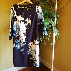 The Limited Floral Navy Dress